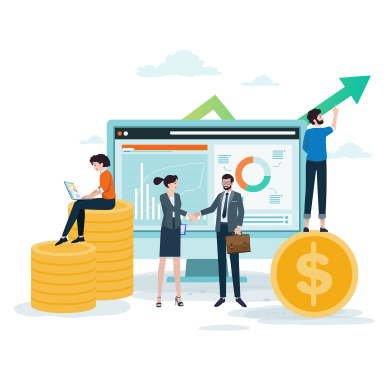 flat image business and digital marketing growth